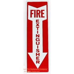 Sign,Aluminum,Fire Extg,4x12,A