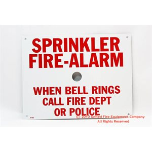 Sign,Aluminum,Spkr / Alarm,7 3 / 4
