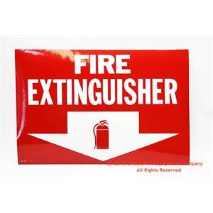 Sign,Vinyl,Fire Extg,12x8,Arro