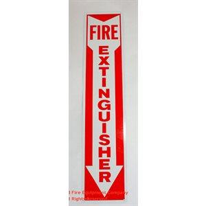 Sign,Vinyl,Fire Extg,4x18,Arro