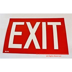 Sign,Vinyl,Exit(Red),12x8