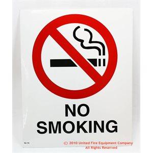Sign,Vinyl,No Smoking,8x10