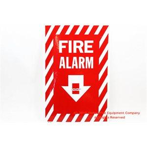 Sign,Vinyl,Fire Alarm,8x12