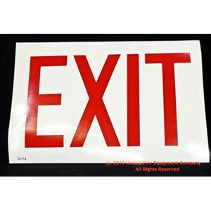 Sign,Glow,Exit,8x12