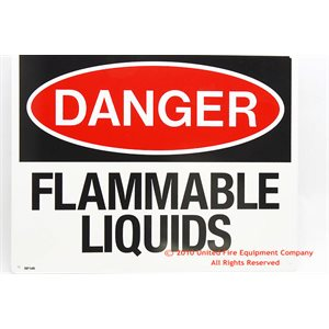 Sign,Plastic,Flammable Liquid,